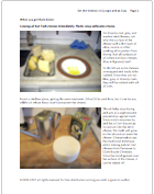 sample page of cheese storage guide